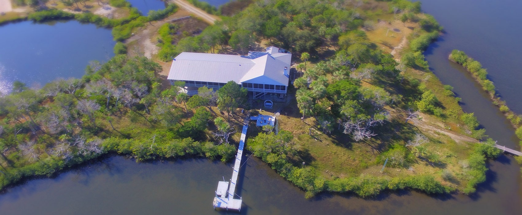Crystal River Lullaby B&B from sky
